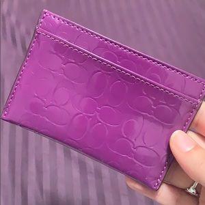 Coach Accessories - Coach Liquid Gloss Patent Embossed Card Case